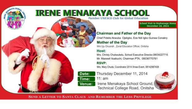 IRENE MENAKAYA School  had a special program for the Orphanage and Less Privilege in Onitsha Anambra State,